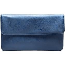 cecilia&bens Clutch Blau | Damen Abendtasche | kleine Handtasche