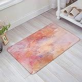 NFfreeL Marble Background in Red Tones Door Mats Thin Non Slip Carpets for Front Door Kitchen Bedroom Rug 15.7X23.6