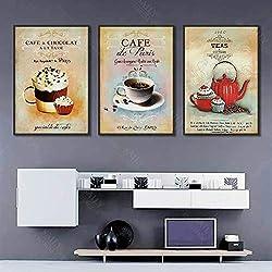 Geiqianjiumai Nordic Retro Poster einfache Moderne Kaffee Dessert abstrakte leinwand malerei Dekoration küche Wand rahmenlose malerei 40x50 cm