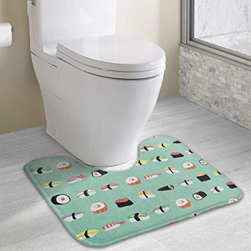 Hoklcvd Leckeres Sushi Rutschfeste Kontur Badematte für Toilette, saugfähiges Wasser, perfekt für Badezimmer. Kaufen Sie online Badematten zu den besten Preisen
