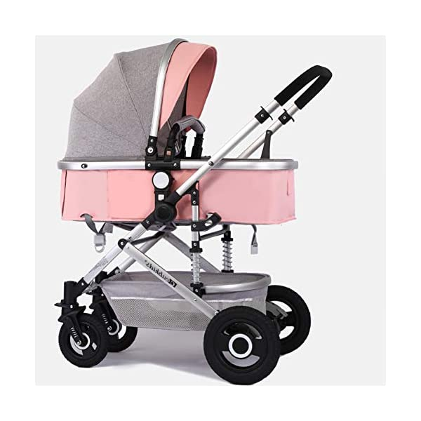 High Landscape Light Baby Stroller,can Sit Reclining Folding Shock Two-Way Baby Newborn Children Perambulator-f Baby Care Independent Large Sleeping Basket,Can Be Lying Flat At 180掳,Which Is More Conducive To The Development And Growth Of The Baby.the X-shaped Superior Frame Makes The Body Stronger,3d Stereo Shock Absorption,Better Protect The Newborn brain. High-view Seats,Far From The Surface Heat,Car Exhaust And Other Development Can Be healthier. The Detachable 5-point Harness Is More Suitable For Newborns,Safe And Secure.the Two-way Implementation Of The Sleeping Basket Can Face The World And Face The mother. The hood can be adjusted in multiple steps,And the four gears can be adjusted to easily face the change of the sun.Can sit reclining and reclining,A variety of sleeping basket angles,To meet the needs of 0-3 YEARS OLD BABY.360掳 10,000 front wheel, Turn freely,Flexibly rotate,Save effort and lightly control freely. 1