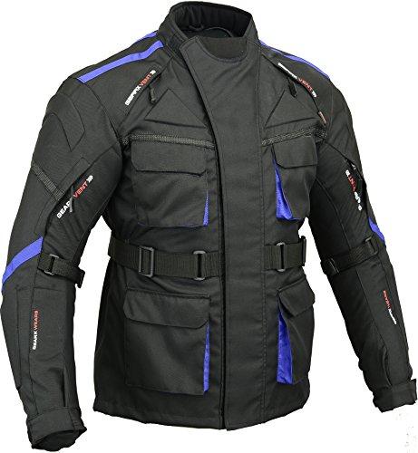 gearx surfer chaqueta moto impermeable acolchada espalda y codo, m