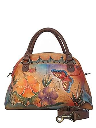 ANUSCHKA Women Designer Leather Handbag *UNIQUE* - BUTTERFLY -