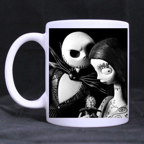 Mensuk CozyHome Nightmare Before Christmas Jack And Sally Custom coffee cup White Mug