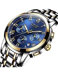 722296ce3c1d LIGE Relojes Hombres Deporte Impermeable 30M Reloj De Cuarzo Analógico Moda  Fecha Acero Inoxidable Lujo De