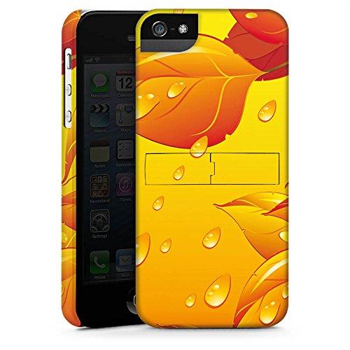 Apple iPhone X Silikon Hülle Case Schutzhülle Blätter Regentropfen Herbst Premium Case StandUp