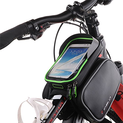 Fastar 15,7 cm Wasserdicht Touch Screen Bike Bag Front Rahmen Top Fahrrad Handy Tasche MTB Road Mountain Fahrrad Tasche Fahrrad Satteltasche Rot