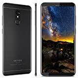 Smartphone Ohne Vertrag, Vernee M6 Dual SIM Handy, 4GB RAM 64GB ROM, 16MP Haupt/13MP Frontkameras, 3300mAh Batterie, 5.7 Zoll 18:9 HD-Display, Android 7.0, MTK6750C Octa-Core Prozessor (schwarz)