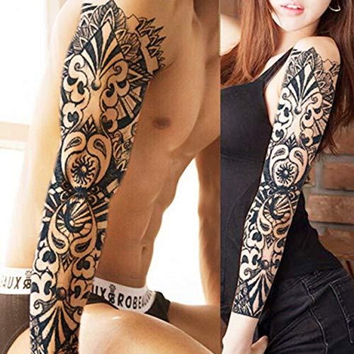 camellia 1PCS Voll Arm Blumen-Tätowierung-Aufkleber wasserdicht temporäre Tätowierung-Hülsen-Männer Frauen-Körper-Wassertransfer Gefälschte Tatoo Sleeve Lack (4)