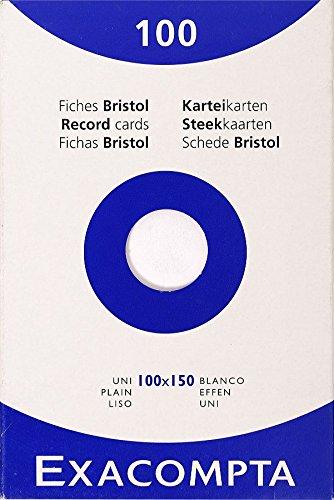 exacompta-13302e-cartoncini-bristol-10x15-cm-bianco
