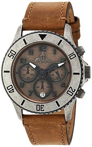 Burgmeister - BM532-910-1 - Montre Femme - Quartz - Chronographe - Bracelet cuir Beige