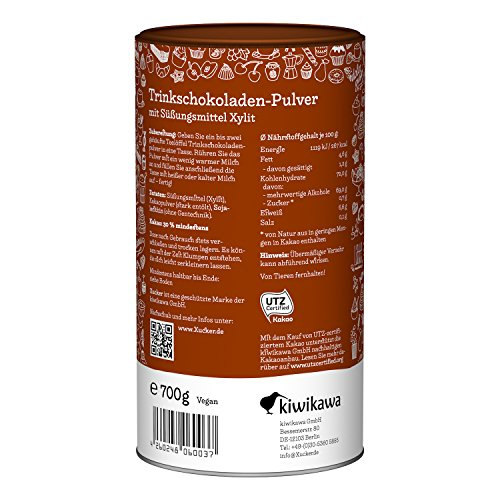 Xucker Trink-Schokolade mit Xylit, 1er Pack (1 x 750 g)