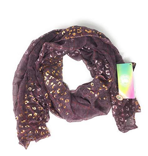 Coronel Tapioca - Pañuelos de Cuello para Mujer. Fulares con Varios Estampados Diferentes. Varios Colores y Tamaños (POL - LEOPARDO, ROSA)