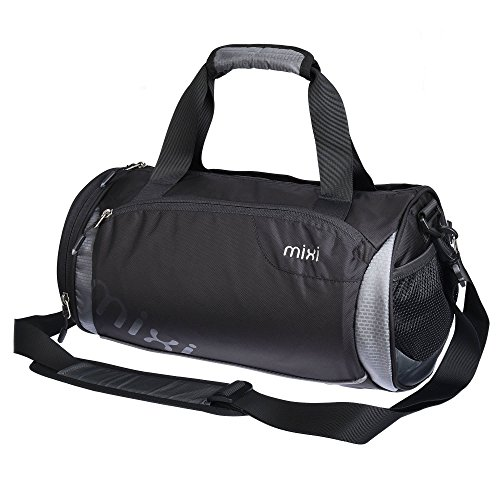 NUOVO! Mixi Trendsetter Gym Bag / Carry On Sport Travel Bag a tracolla, zip Compartimenti (Stonehenge grigio, 18