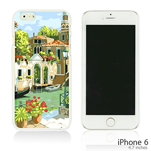 OBiDi - Art Paintings Hardback Case / Housse pour Apple iPhone 6 / 6S (4.7 inch)Smartphone - Vintage Painting Birds and Flowers Venice Cityscape Oil Painting