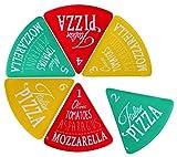matrasa Pizzateller für 6 Pizzastücke - Melmain Teller - Pizzabrett bis zu 40cm Pizza