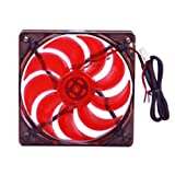 MASSCOOL 120mm Red LED Cooling Fan BLD-12025V1R