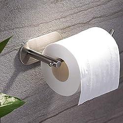 ZUNTO Porte-rouleau de Papier Toilette Sans Support de Papier Auto-adhésif de Forage Titulaire de Papier Hygiénique en Acier Inoxydable