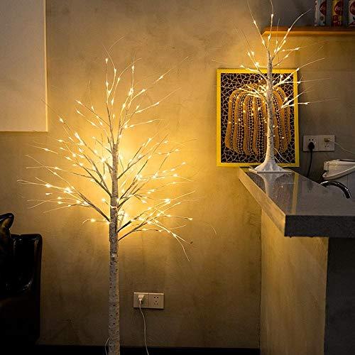CJKBD LED Birkenbaum Lichter Glänzende Weihnachtsbaum Dekoration Lichter-90 CM Birkenbaum Licht (USB)