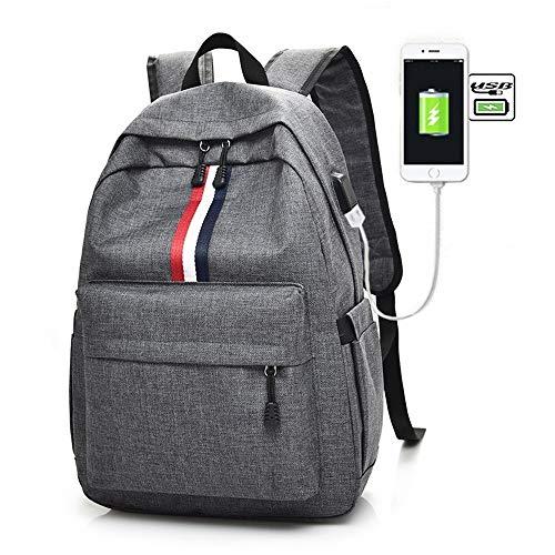 765e6c1c0 Moda Semplice Studente Casuale Zaino con interfaccia di Ricarica USB Borsa  da Viaggio Trend Youth Travel