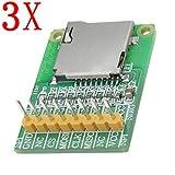 SPA 3Pcs 3.5V / 5V Micro Sd Card Module Tf Card Reader Sdio/SPI Interface Mini Tf Ca