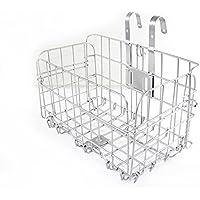 Shayson Malla de alambre plegable para bicicleta con cesta, cesta para bicicleta plegable para llevar