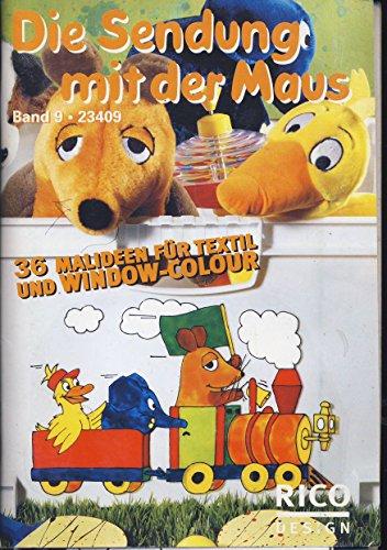 Malbuch Vorlagen Window Color Sendung mit der Maus Elefant und Ente