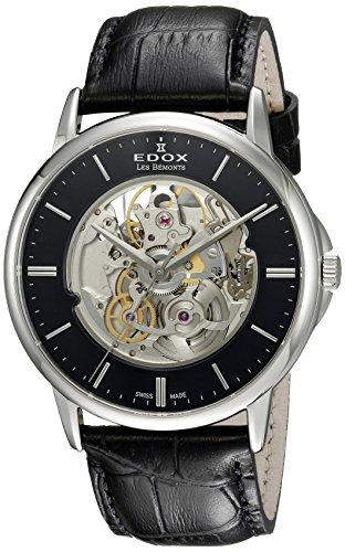 Edox Men's Analog Swiss-Automatic Watch with Leather Strap 85300 3 NIN