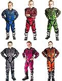 Wulfsport Firestorm Kinder Anzug Motorrad Motocross ATV Quad MX Racing Sport Junior Bekleidung Bike Anzug für Kinder (3-13 Jahre, 20-30, Mehrere Farben) - Blau - 5-7 Jahre, 22-Taille