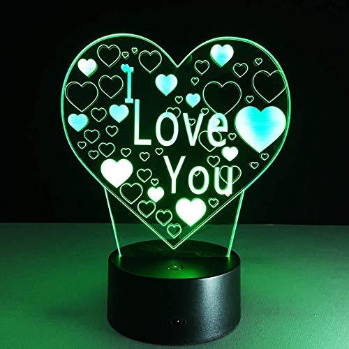 Lámpara De Ilusión Visual 3D /Princesa/Baloncesto Obviamente/Amor/Luz De 7 Colores Para Niñas/Lámpara De Escritorio De Mesa Táctil/Decoración Del Hogar Baloncesto Obviamente-Love