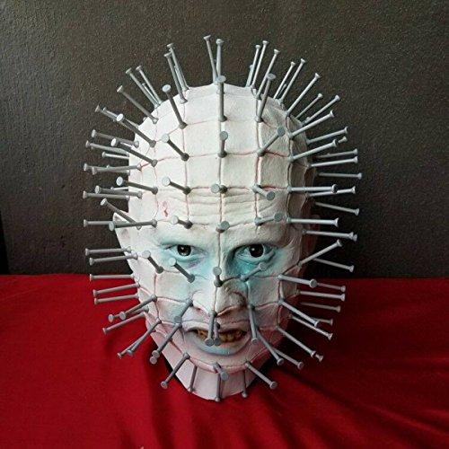 Ghosts Gowns Cos Nail Kopf Masken Halloween Horror Masquerade Requisiten Hölle Stadt (Stadt Masken Party)