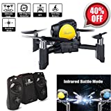 Mini Drone Quadcopter, Remote Control RC Pocket Drone(Infrared Battle Mode, Headless Mode, Altitude Hold, One Key To Return, 3D Roll MAV RTF) Good for Kids Toy Gifts (Yellow)
