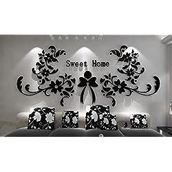Longless 3d, de cristal acrílico, pegatinas de pared tridimensional, habitación de matrimonio, dormitorio, sala de estar, televisión, telón de fondo, la decoración del hogar