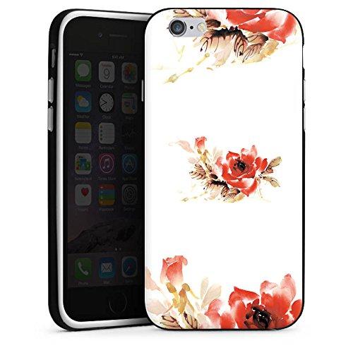 Apple iPhone X Silikon Hülle Case Schutzhülle Blume Muster Bunt Silikon Case schwarz / weiß