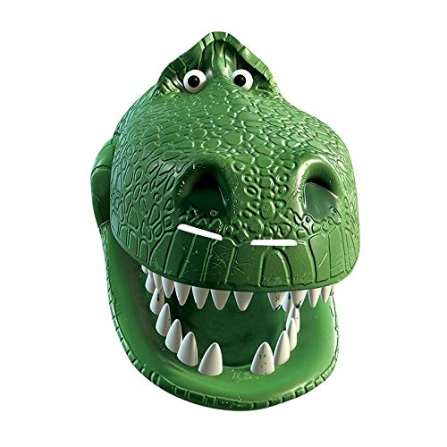 Rubies Toy Story 4 Card Mask - Pappmaske mit 3D Aufdruck, Woody, Buzz Lightyear, Gabby, Rex, BO Peep, Forky (3300393 - Rex) (Buzz Erwachsene Lightyear-maske)