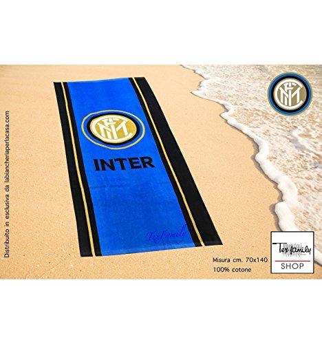 Telo mare sport inter misura cm.70x140 originale internazionale