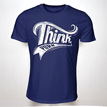 THINK PORN(NAVY)(XXL) TSHIRT HIPSTER SWAG MENS