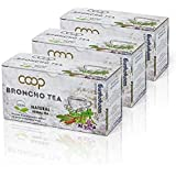 Broncho Tee, Kräutertee -Zeigt eine wohltuende Wirkung auf die Atemwege an, 3 Packungen zu 20 Filterbeuteln (60 x 1,0…