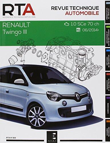 Revue Technique 816 Twingo III : 1.0i (71 Ch) (Depuis 2014)