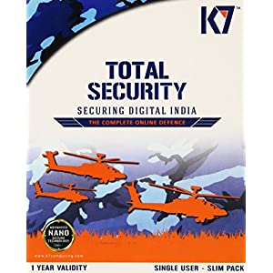 K7 Total Security- 2 User, 1 Year (2 CD's Inside) (New Silm Pack)