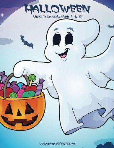 Halloween libro para colorear 1 & 2 (Fantasmas Halloween Colorear)