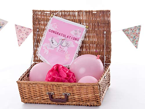 Congratulations It's a girl Couleur Pennant