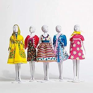 MaRécréation-MesBilles-1Dress Your Doll 1Model Aleatorio Vestido para Coser de los Vestidos muñeca maniquí, cn-whbs-2ga7, MULTICOULEUR