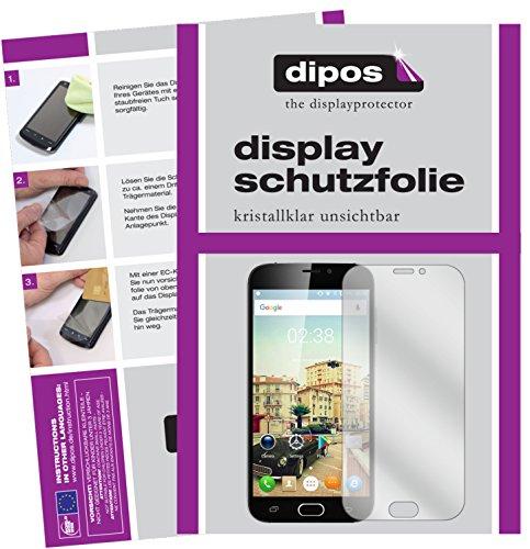 dipos I 2X Schutzfolie klar passend für Doogee X9 Pro Folie Bildschirmschutzfolie