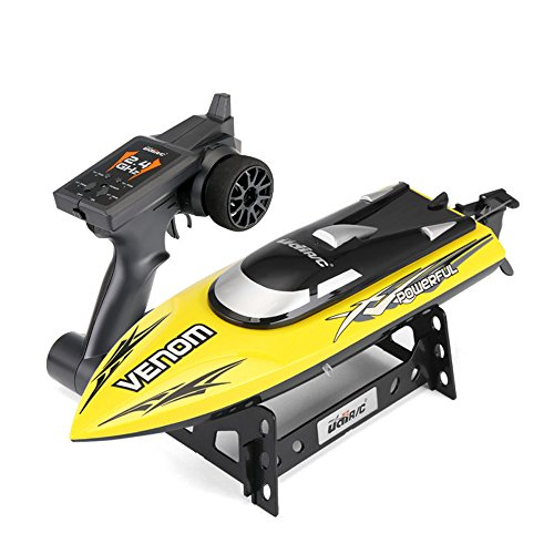 Fanxing New Trend UDI001 Excessive-Pace Distant Management Boats Waterproof Water-cooling System nd Auto Protected Mode Outfitted RC Toys (Yellow)