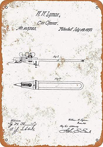 Lotusworld Blechschild mit Dosenöffner zum Patent Pub Home Decor 20,3 x 30,5 cm