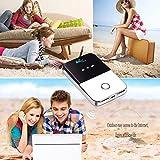 Router Mini Hotspot Portable WIFI Unlock Pocket 4G LTE Mobile Broadband Wireless Mifi(White)