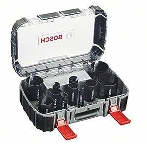 Bosch 2608580870 Coffret de 15 Scies-trépan multi construction universal 20/ 22/ 25/ 32/ 35/ 40/ 44/ 51/ 60/ 68/ 76 mm