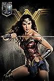 GB eye Justice League, Wonder Woman Solo, Maxi Poster 61x91.5cm, Wood, Various, 65 x 3.5 x 3.5 cm