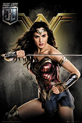GB eye Ltd GB Eye, Justice League, Wonder Woman Solo, Maxi Poster 61 x 91,5 cm, Holz, Verschiedene, 65 x 3,5 x 3,5 cm -